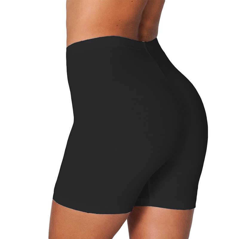 7 색 여성 하이 웨이스트 짧은 탄력 바지 Tummy 통기성 컨트롤 레깅스 운동 체육관 Athletic Cotton Frabic 2XL