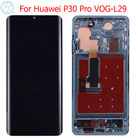 Original P30 Pro Display For Huawei P30 Pro LCD With Frame OLED 6.47