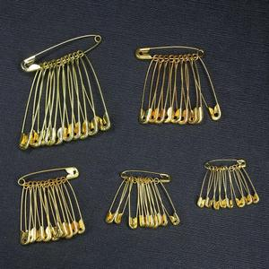 50 Uds. De alfileres de seguridad dorados, Mini hebilla, tamaño a elegir, 6mm-12mm, herramienta de ropa de Metal para costura, accesorios de agujas