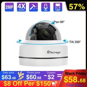 Image 1 - Techage 1080P 4X Zoom PTZ POE IP Camera Mini Speed Dome Âm Thanh Chống Nước 2MP Camera Quan Sát An Ninh P2P Onvif video POE Giám Sát