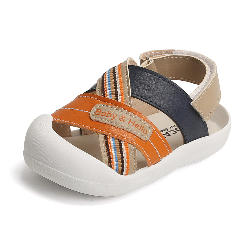 2020 New Children Infant Shoes 0-2 Years Old Baby Webbing Anti-kick Infant Shoes Baby Soft Bottom Quality Leather Toddler Shoes