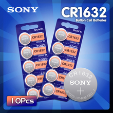 New 10PCS Sony CR1632 Button Battery Lithium Coin Cell Batteries 3V LM1632 BR1632 ECR1632 CR 1632 For Electronic Watch Toy