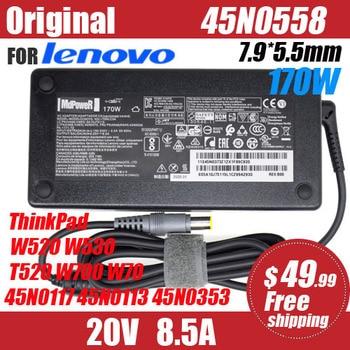 original 20V 8.5A 170W 7.9*5.5mm Laptop AC Adapter for Lenovo ThinkPad W520 W530 T520 W700 W70 45N0117 45N0113 45N0353 42T5284