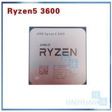 Amd ryzen 5 3600 r5 3600 3.6 ghz seis-núcleo processador cpu de doze linhas 7nm 65w l3 = 32m 100-000000031 soquete am4 sem ventilador