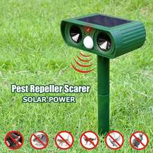 Solar Energy Ultrasound Pest Repeller Garden Woodland Planting Green Space Field Repellent Deworming Open Air Waterproof printio space open