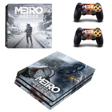 Metro Exodus Style Skin Sticker for PS4 Pro Console And Controllers Decal Vinyl Skins Cover YSP4P-3320