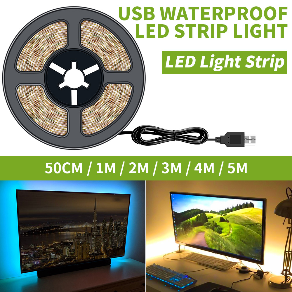 Led Strip USB Port Light Fita De Led Lamp Tape 5V 2835SMD TV Background For Closet Stairs Kitchen Cabinet Waterproof Night Light