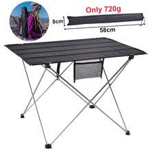 Table de Camping en plein air Portable pliable mobilier de bureau lit d'ordinateur ultra-léger en Aluminium randonnée escalade pique-nique Tables pliantes