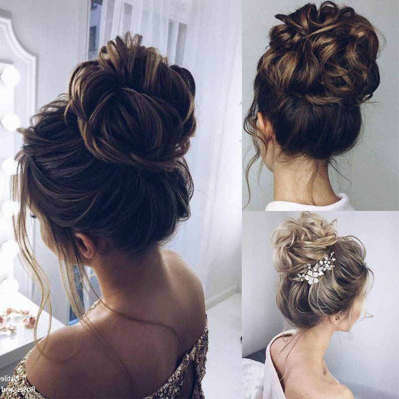 WERD Synthetic Bun Extensions Curly Messy Bun Hair Scrunchies Elegant Chignons Wedding Hair Piece For Women And Kids