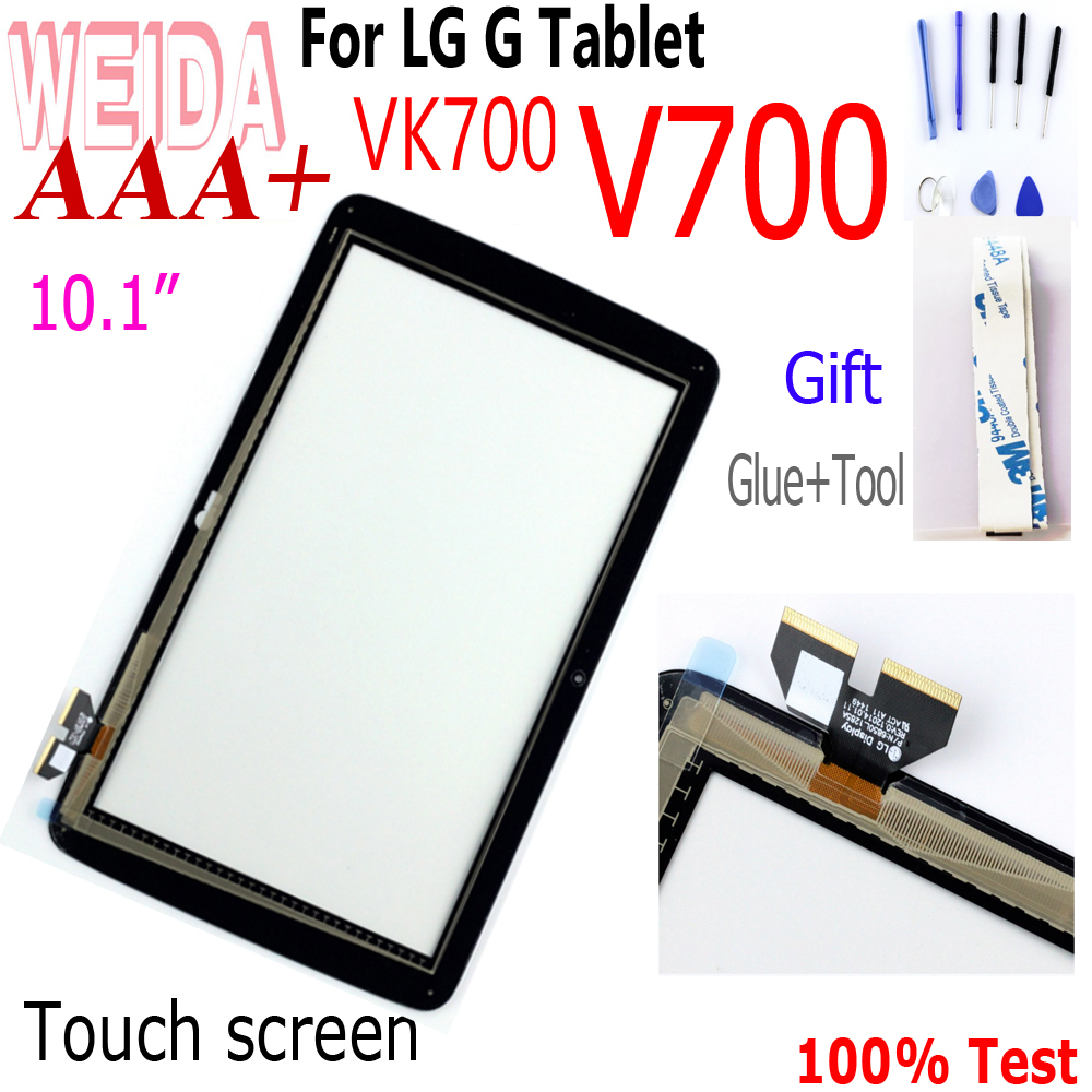 "WEIDA 10.1"" For LG G Pad LG-V700 VK700 V700 Touch Screen Digitizer Glass Replacement Free Shipping VK700 Touch screen Panel"