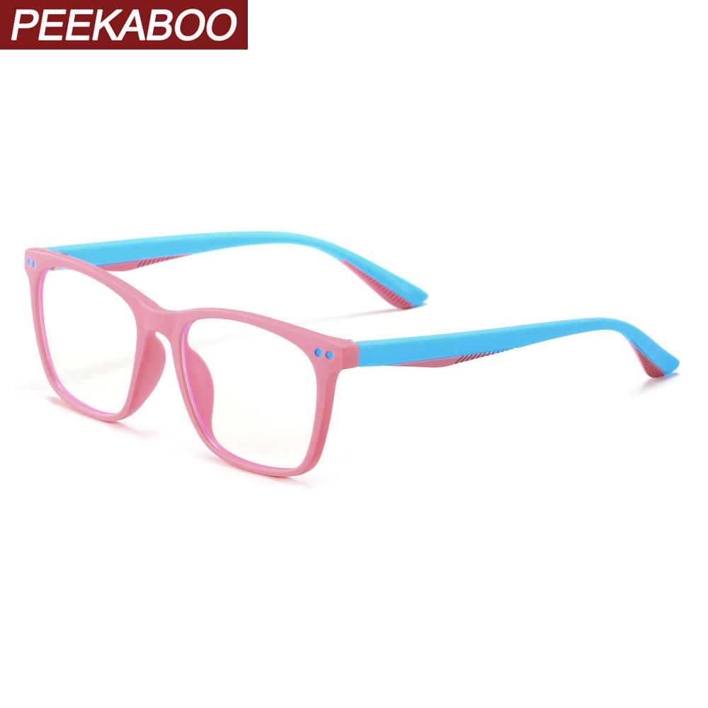 Peekaboo Blue Light Blocking Glasses Girls Square Tr90 Frame Baby Computer Tablet Protection Children Eyeglasses Optical Boys