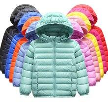 Meninos e meninas inverno para baixo jaqueta 90% pato pena para baixo quente ultra leve crianças jaqueta menino grande menina roupas tamanho 2 t-10 t