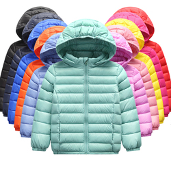 Boys and Girls Winter Down Jacket 90% Duck Feather Down Warm Ultra Light Children's Jacket Big Boy Boy Girl Clothes Size 2T-10T