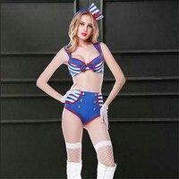Women Sexy Lingerie Sailor Cosplay Costumes Erotic Japanese School Girl Cosplay Adult Airline Stewardess Uniform Fancy Halloween