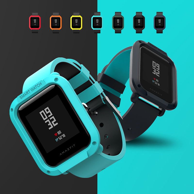 SIKAI PU Watch Case For Xiaomi Bip BIT PACE Lite Youth Watch Cover Military Protective Shell for Huami Amazfit Bit Watch Cover in Watchbands from Watches
