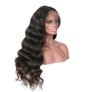 13х4 кружевные парики с детскими волосами объемная волна предварительно выщипанные Remy бразильские волосы кружевные передние человеческие волосы парики
