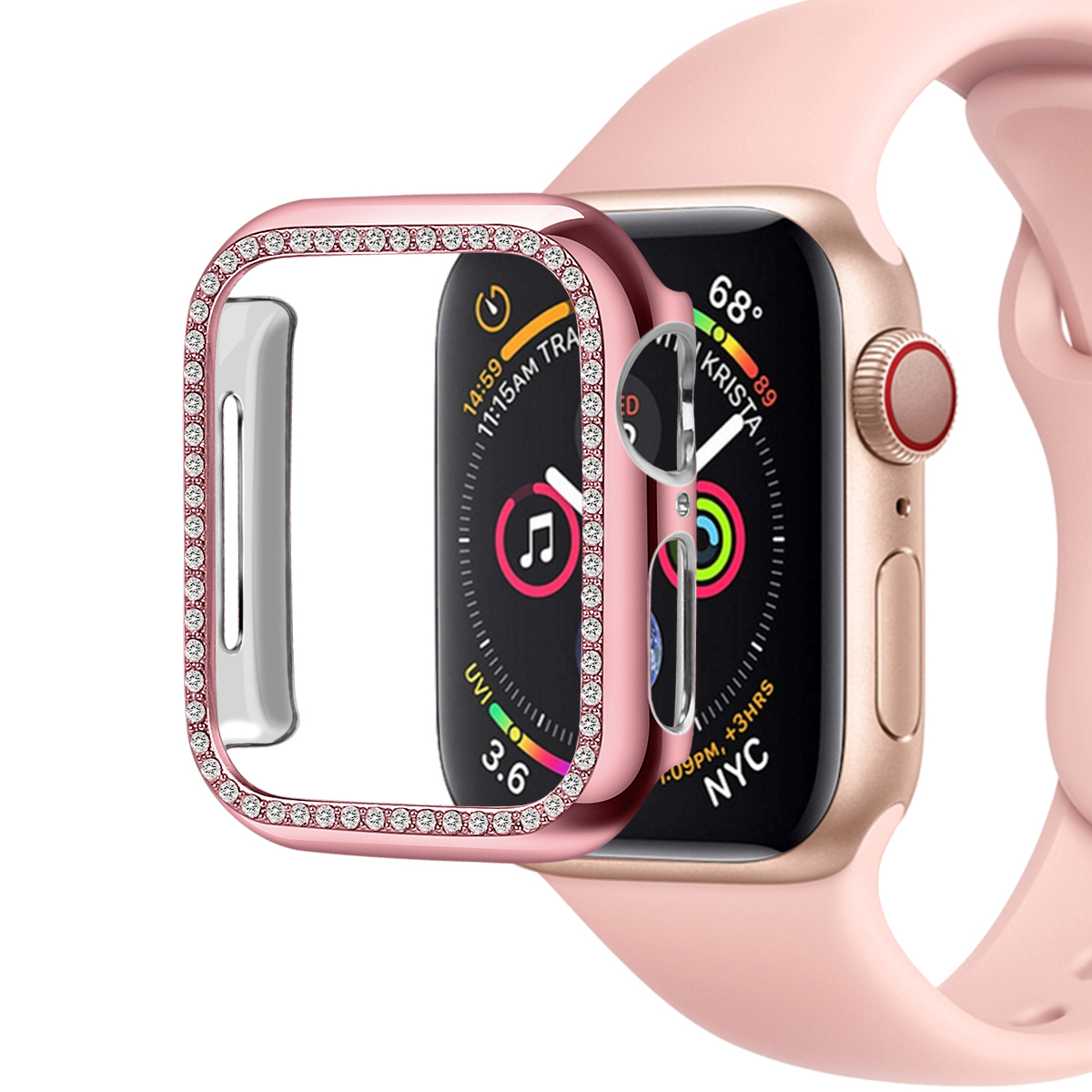 Diamond Protective Cover for Apple Watch Case Series 5 4 3 2 1 38mm 40mm 42mm 44mm Cases for Iwatch 5 Watch Accessories 81021