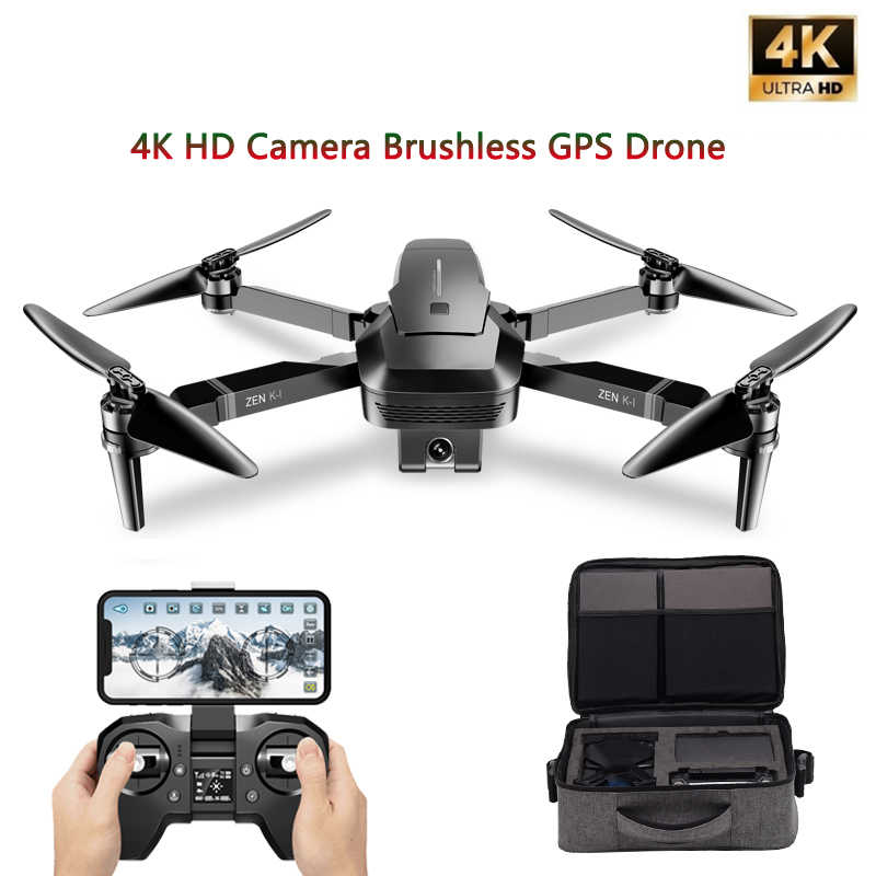 ZEN VISUO K1 GPS Zangão com 5G WIFI 4K Grande-Angular HD FPV Câmera Dupla Do Motor Brushless RC Zangão Quadcopter Vôo 28 Minutos VS B4W
