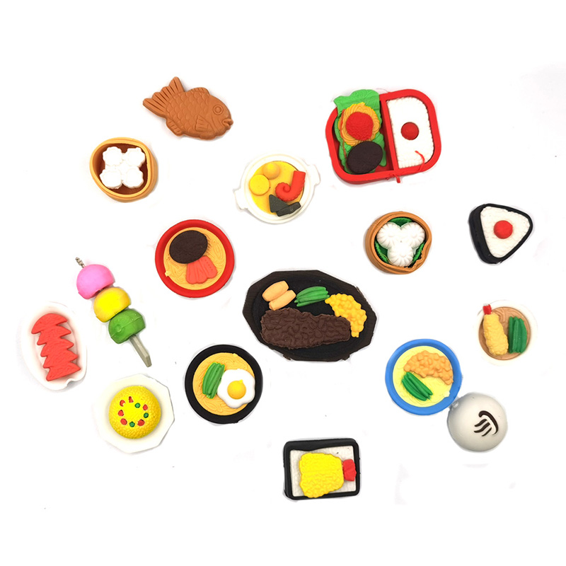 10pcs / Lot , Delicious Food Eraser , Chinese Food Eraser For Kids As School Creative Stationary