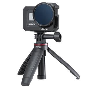 Image 3 - Ulanzi G8 5 boîtier en métal Vlog Cage avec chaussure froide pour GoPro Hero 8 noir étendre Microphone remplir lumière Vlog caméra accessoire