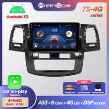 Prelingcar Android 10.0 Car Radio Multimedia Video Player GPS Navigation For Toyota Fortuner AN50 AN60 HILUX Revo Vigo 2008 2014