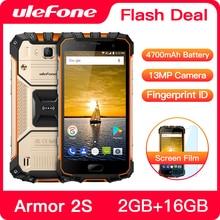 "Ulefone Armor 2S 방수 IP68 NFC 휴대 전화 5.0 ""FHD MTK6737T 쿼드 코어 안드로이드 2GB + 16GB 4G 글로벌 버전 스마트 폰"
