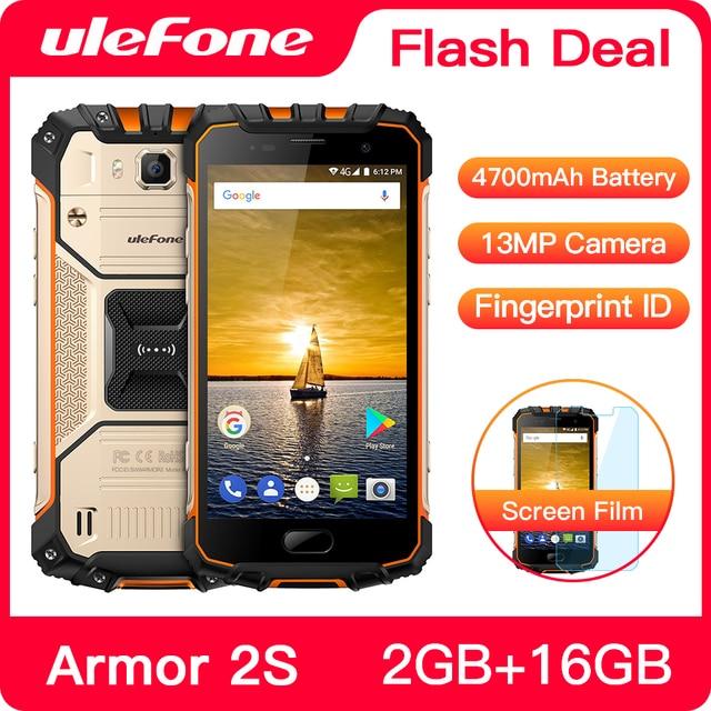 "Ulefone Armor 2Sกันน้ำIP68 NFCโทรศัพท์มือถือ 5.0 ""FHD MTK6737T Quad Core Android 2GB + 16GB 4G Global Versionสมาร์ทโฟน"
