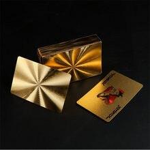Alta qualidade durável cartões de jogo de plástico à prova dwaterproof água jogando cartões de mesa jogos coleção preto poker cartões de jogo