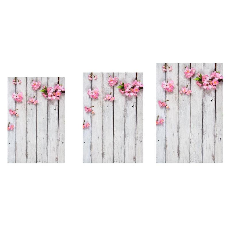 Vintage Wood Petal Photography Backdrops Art Cloth Photo Background Studio Video Home Decoration