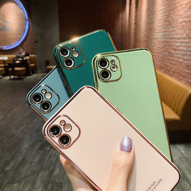 Luxury Plating Silica gel soft Mobile phone Case For iphone XR X XS Max 6 6S 7 8 Plus 12 11Pro 12mini Fashion Cell Phone 11 Case 2
