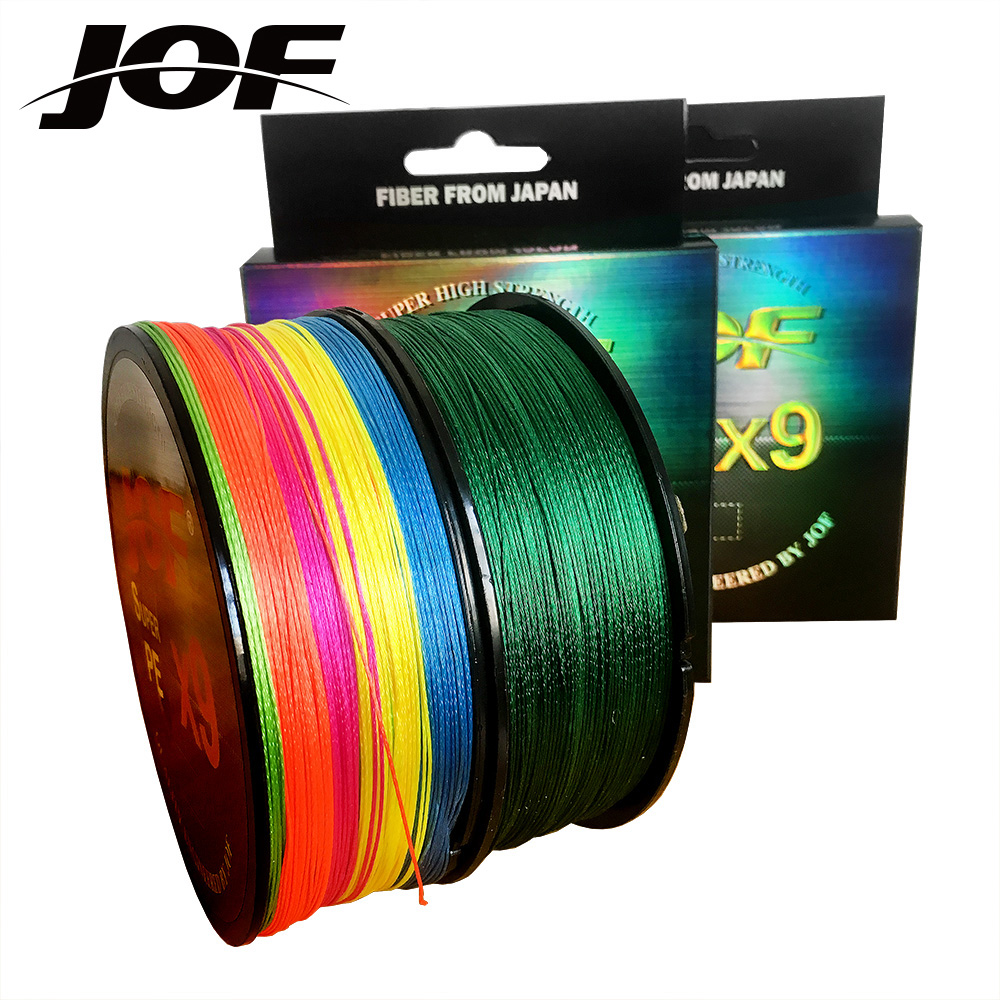 JOF 9 Strands 500M 300M 100M PE Braided Fishing Line tresse peche Saltwater Fishing Weave Superior Extreme Super Strong