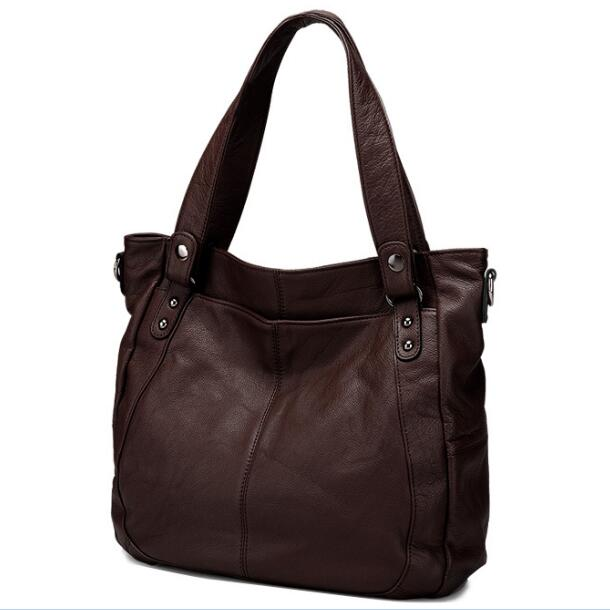 Brand Designer High Quality Genuine Leather Soft Women Tote Handbags Fashion Lady Large Shoulder Messenger Bag New GS03