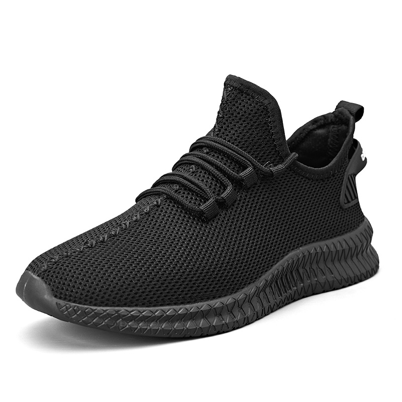 Men Running Shoes Lightweight Breathable Casual Sneakers Non slip Outdoor Men Sneakers Mesh White Big Size