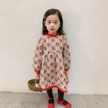 2021 весеннее Цветочное платье для девочек стеганое хлопковое