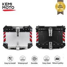 Motorcycle Tail Box Universal Trunk Aluminum Alloy Top Case Travel Luggage Storage Box Motorbike Accessory Storage