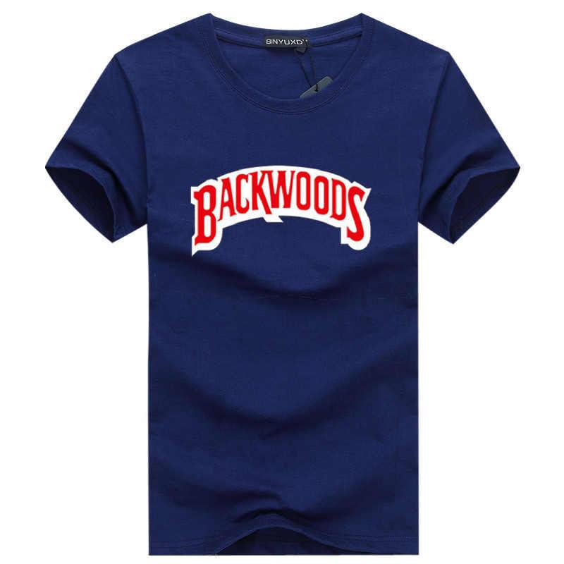 New Summer Men BACKWOODS Printing T Shirt Fashion Men Short Sleeve O Neck T-Shirt Cotton Hip Hop Rock Streetwear Men Clothing