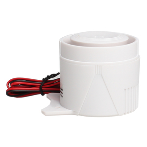 Image 4 - White 120DB DC12V Mini Wired Siren Horn for Wireless Home Alarm Security System Alarm Accessories 59cm Line length