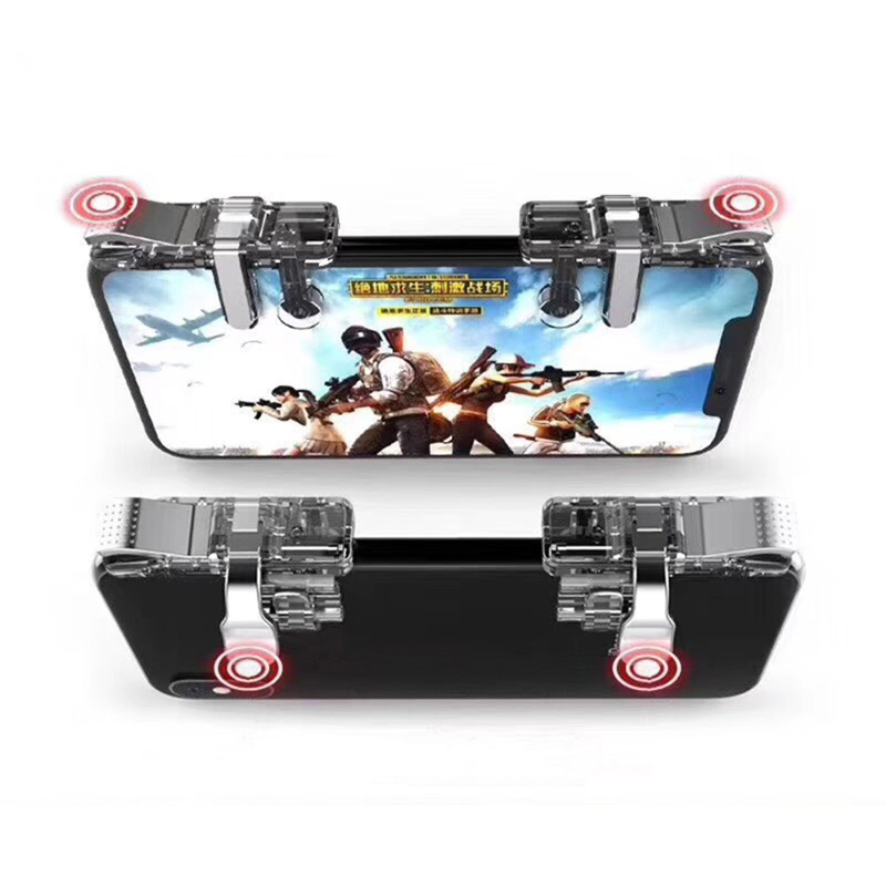 PUBG Accessories Mobile Phone Gamepad For FPS Gaming Fire Trigger Button Aim Key Controller L1 R1 Shooter For iPhone Android