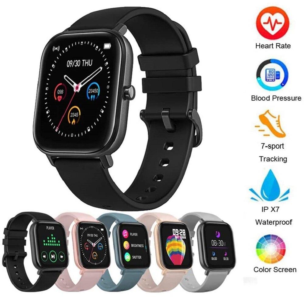 Смарт часы OnLive P8, 1,68 дюймов, мужские, полностью сенсорные, фитнес трекер, кровяное давление, умные часы для женщин, для IOS и Android|Смарт-браслеты|   | АлиЭкспресс