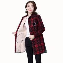 Aecu inverno camisas quentes engrossar blusa de manga longa de veludo grosso camisa longa outerwear feminino turn-down collar xadrez