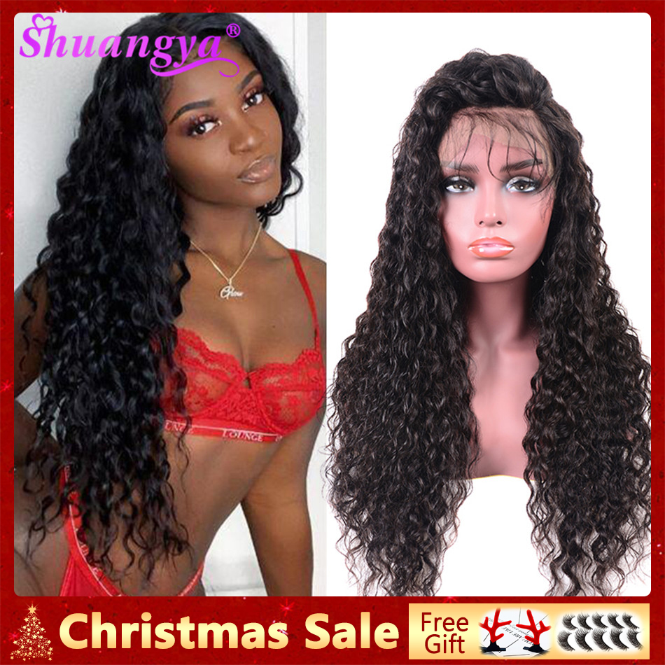Brazilian Lace Front Human Hair Wigs 13X4/13X6/360 Lace Frontal Wig Water Wave Human Hair Wigs 150% Front Lace Wigs Shuangya