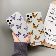 Cute Butterfly Phone Case For Samsung S21 A21 a21S A30 A40 A50 A70 A71 A51 S9 S10 plus S20 FE Note 20 Ultra 8 9 10 Soft Cover