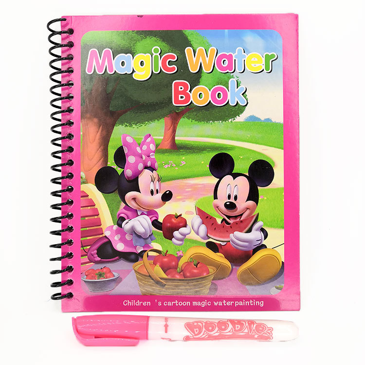 Disney Princess Sophia Magical Water Painting Book Mickey Minnie Coil Book Frozen  Magical Water Painting Book Spiderman