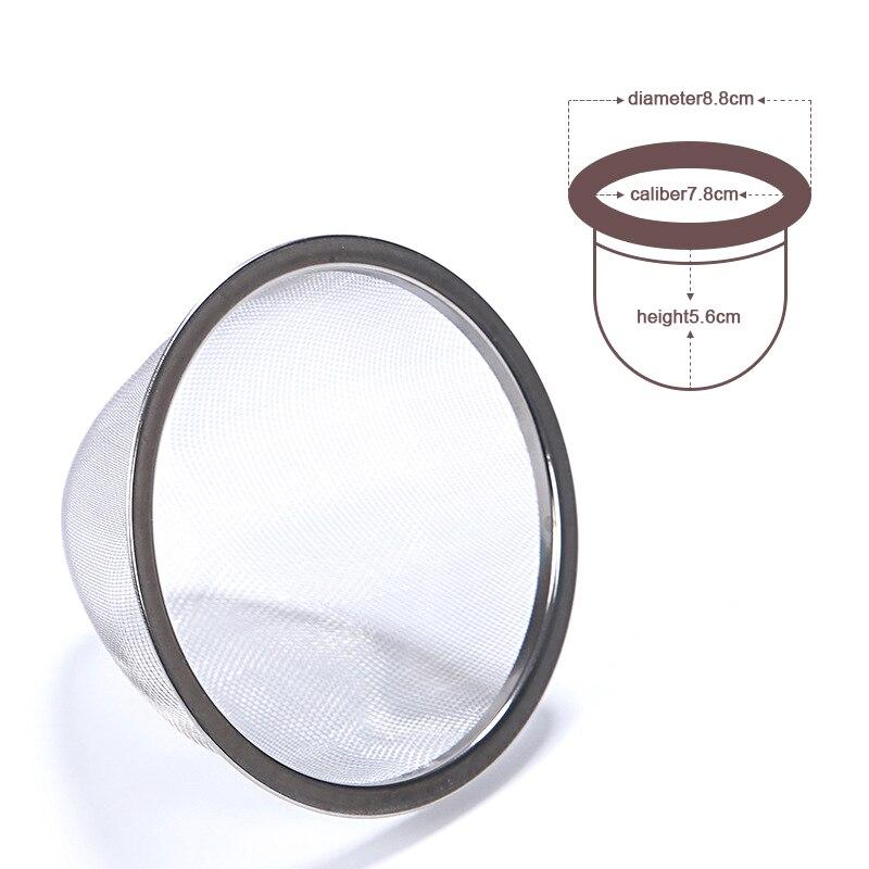 Wiederverwendbare Edelstahl Mesh Tee-ei Sieb Teekanne Tee Blatt Spice Filter Drink Küche Zubehör Durchmesser 5-7,8 CM