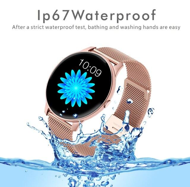 LIGE 2021 Fashion Smart Watch Ladies Heart Rate Blood Pressure Multifunctional Sport Watch Men Woman Waterproof Smartwatch Women 4