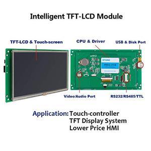 Image 2 - 10.1 Cal HMI moduł wyświetlacza LCD z ekranem dotykowym i RS232 RS485 TTL UART Port STVI101WT 01