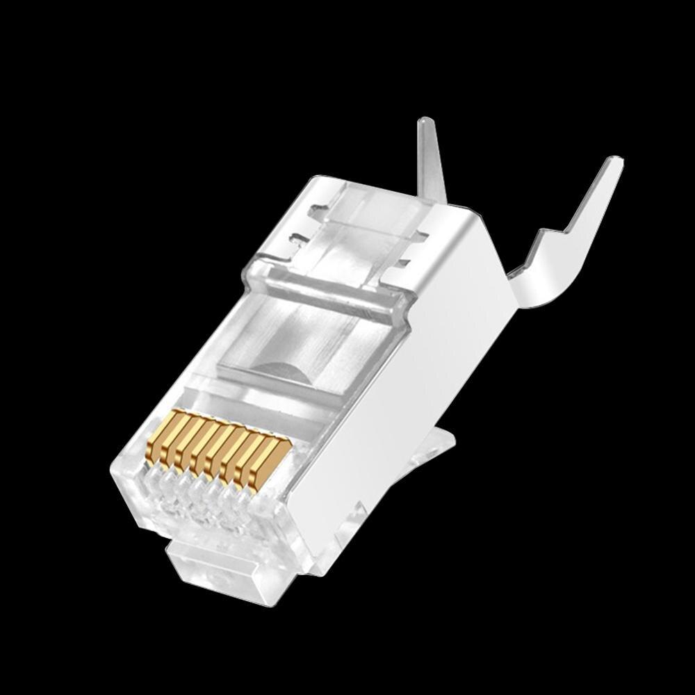 1/5/10 шт Универсальный CAT7 Металл экранированный RJ45 Кабельные соединители модульный разъем-Cat 7 8P8C сети RJ-5 обжимной разъем Ethernet