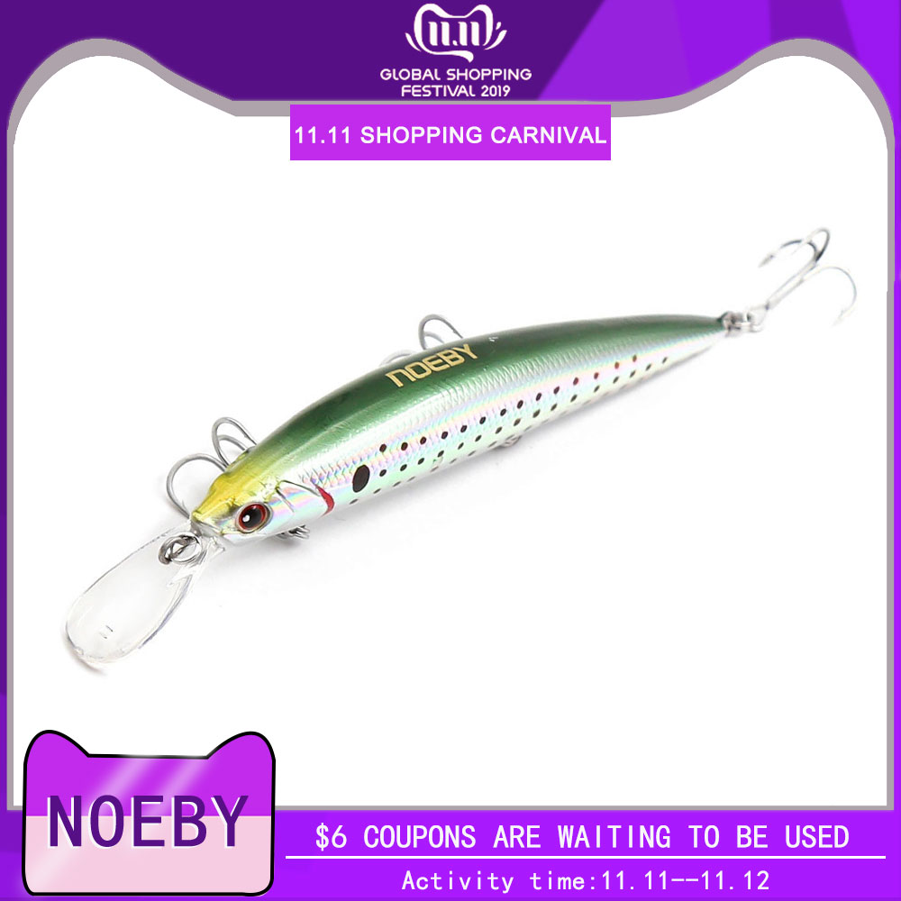 Noeby minnow fishing Lure hard bait 110mm 36g sinking 0.2-3m sea for Bass Pike Fishing Wobbler