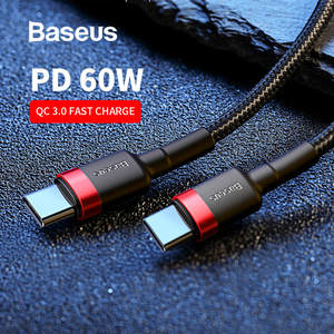 Baseus C-To-Usb-C-Cable Note Fast-Charging-Cord Usb-Type Quick-Charge QC3.0 Macbook Samsung