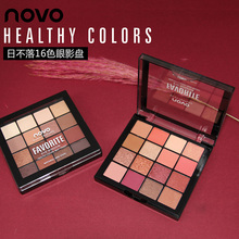 NOVO 16 Colors Shimmer Matte Eyeshadow Palette High Pigmented Mineral Eye Shadow